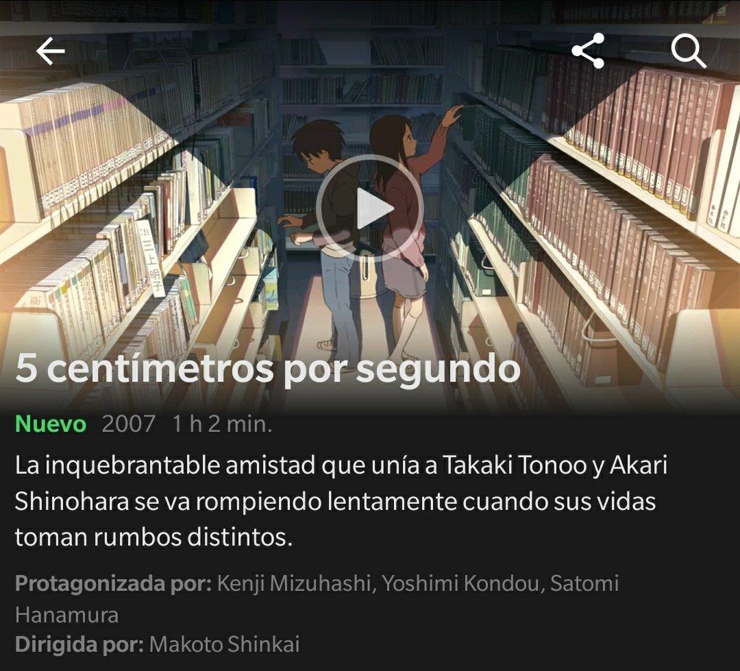 Netflix y5 centímetros por segundo