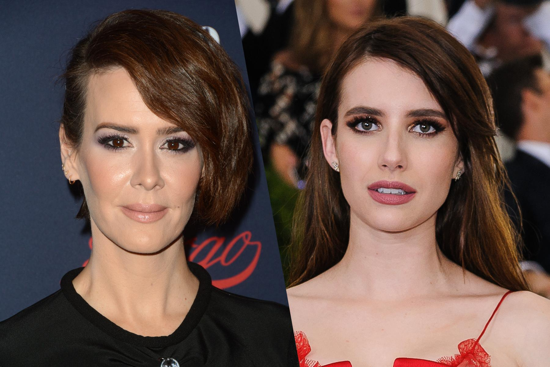 Sarah Paulson y Emma Roberts actrices de American Horror Story // Hollywood.com