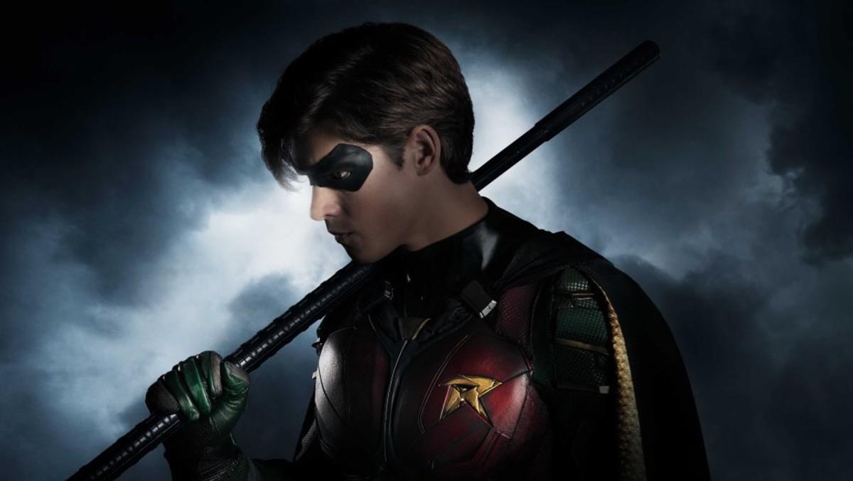 Robin en un poster para la nueva series de Titans // El Periódico