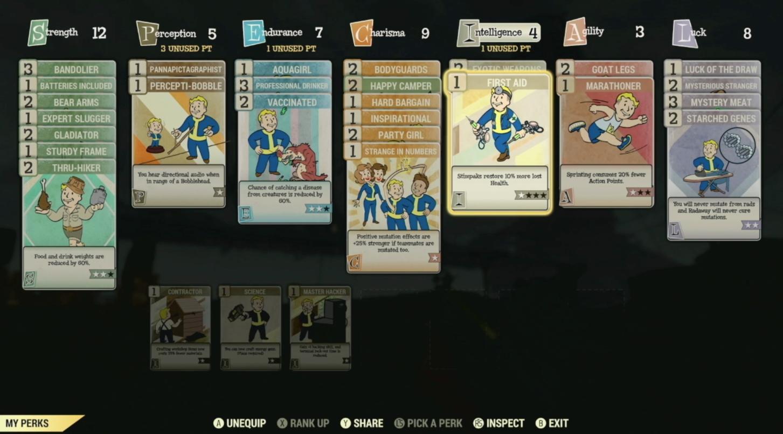 Cartas Fallout 76