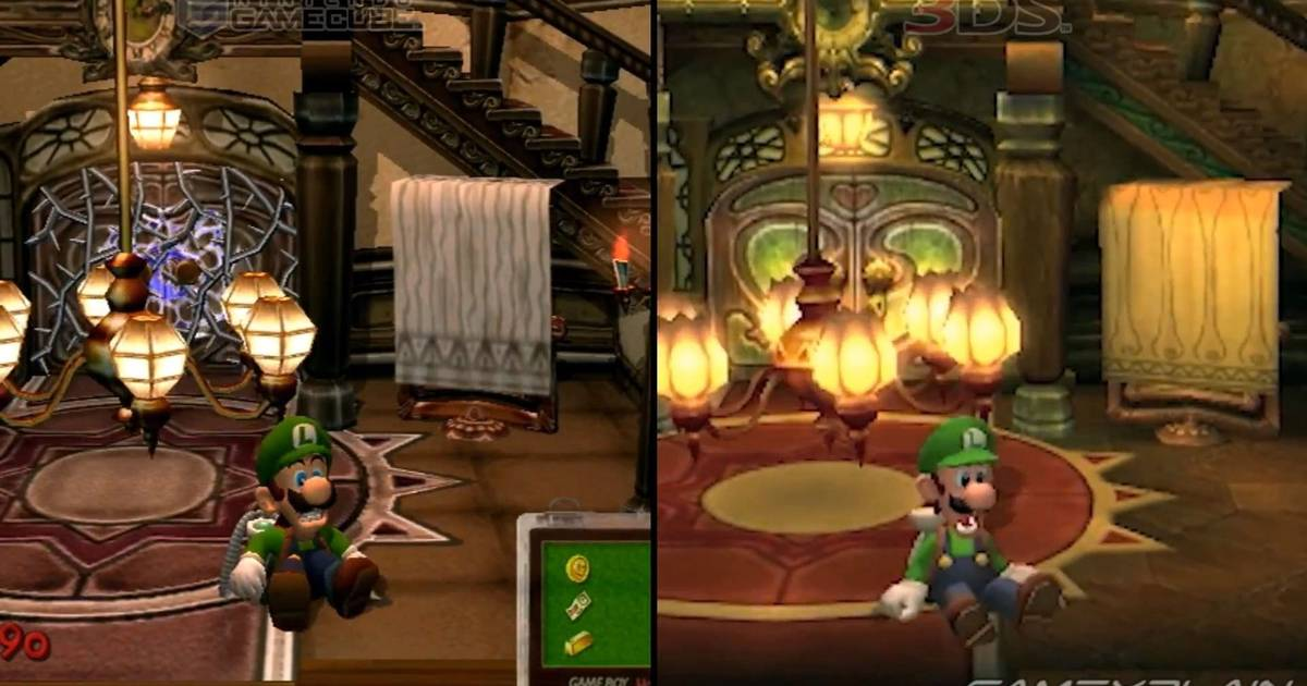 Diferencias Luigi's Mansion