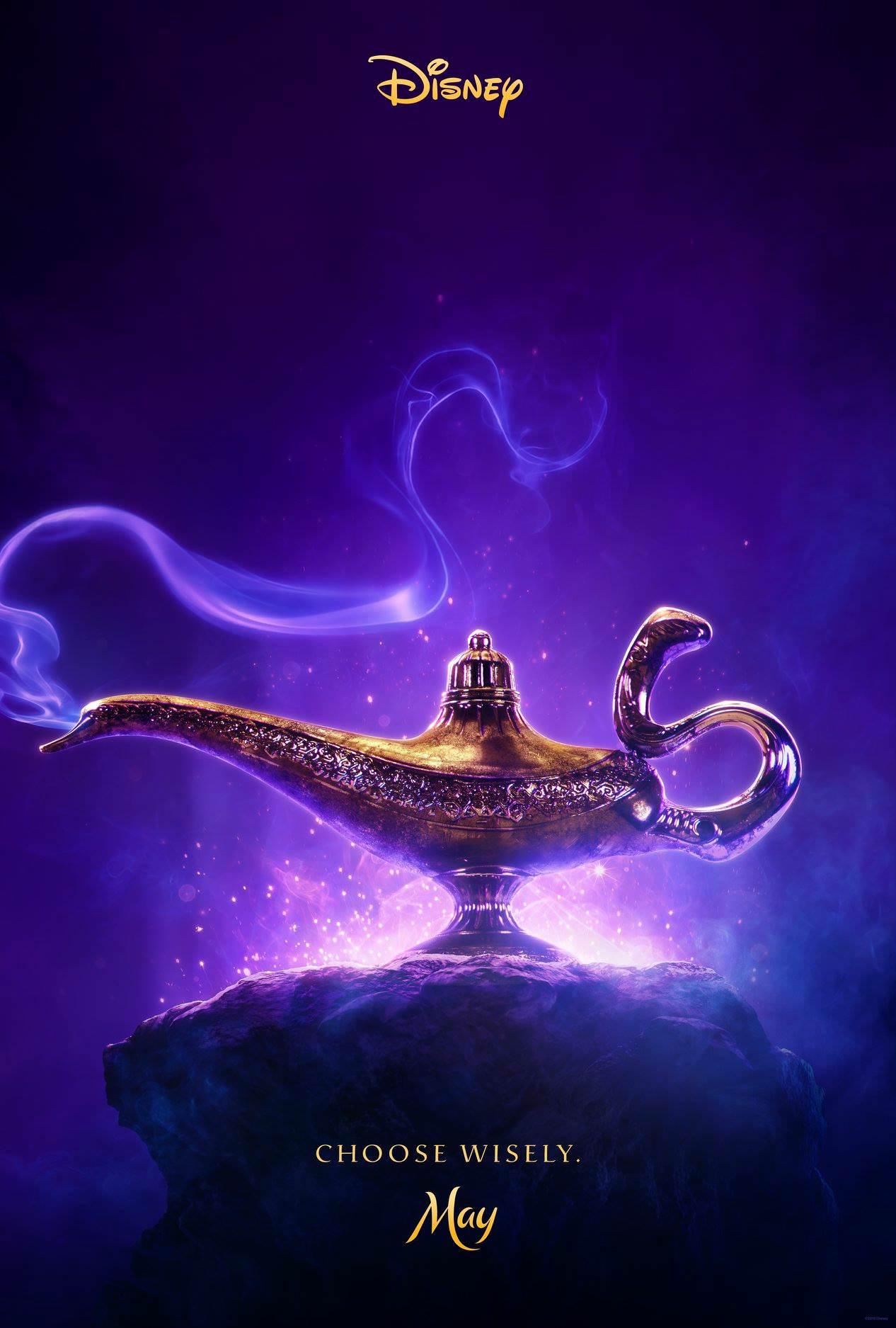 Primer póster de la película de Aladdin// Reddit