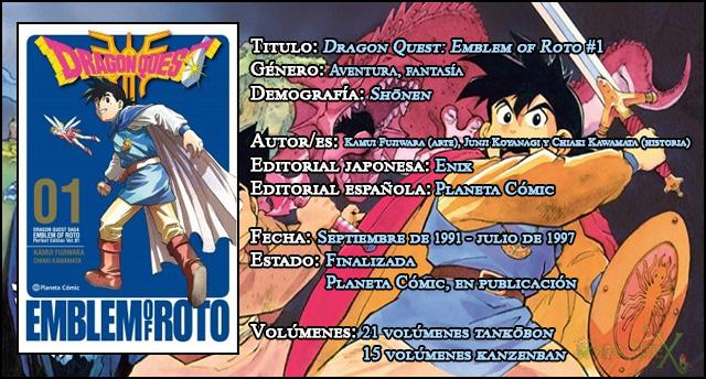 Review manga: 'Dragon Quest: Emblem of Roto' #1
