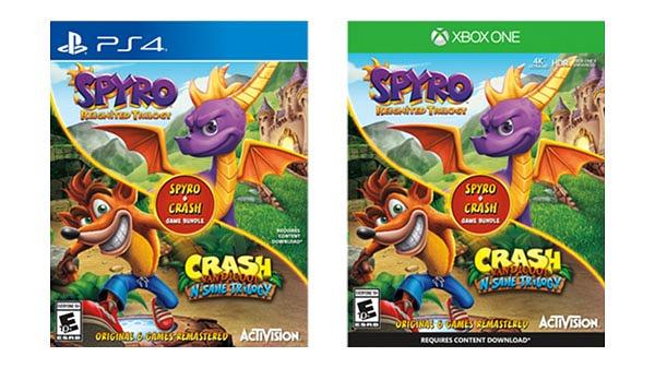 Portada Crash Bandicoot + Spyro Game Bundle