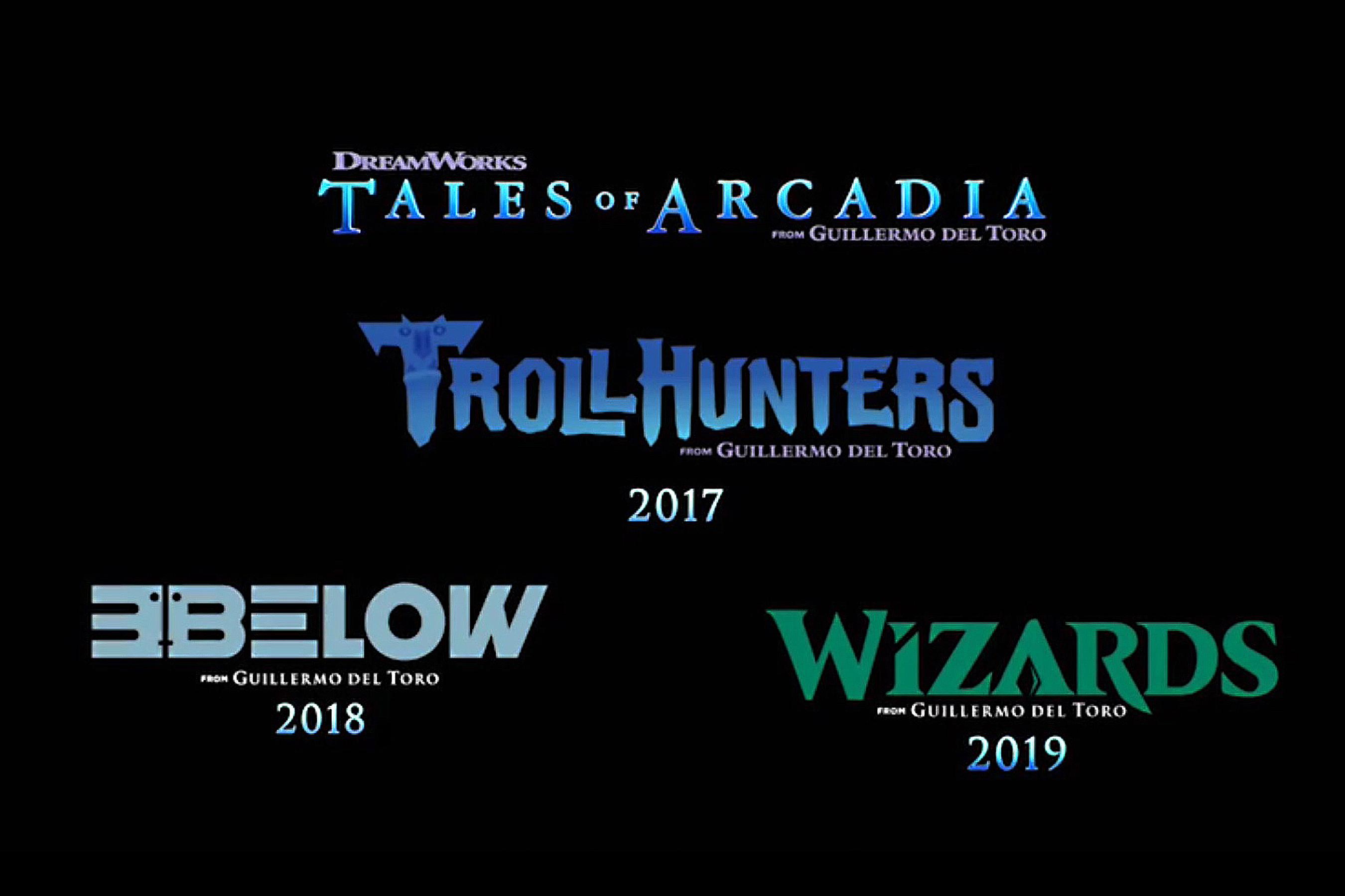 Cartel de la trilogía de Tales of Arcadia de Guillermo del Toro // ew.com