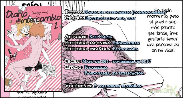 Review manga: 'Diario de intercambio (conmigo misma)' #1