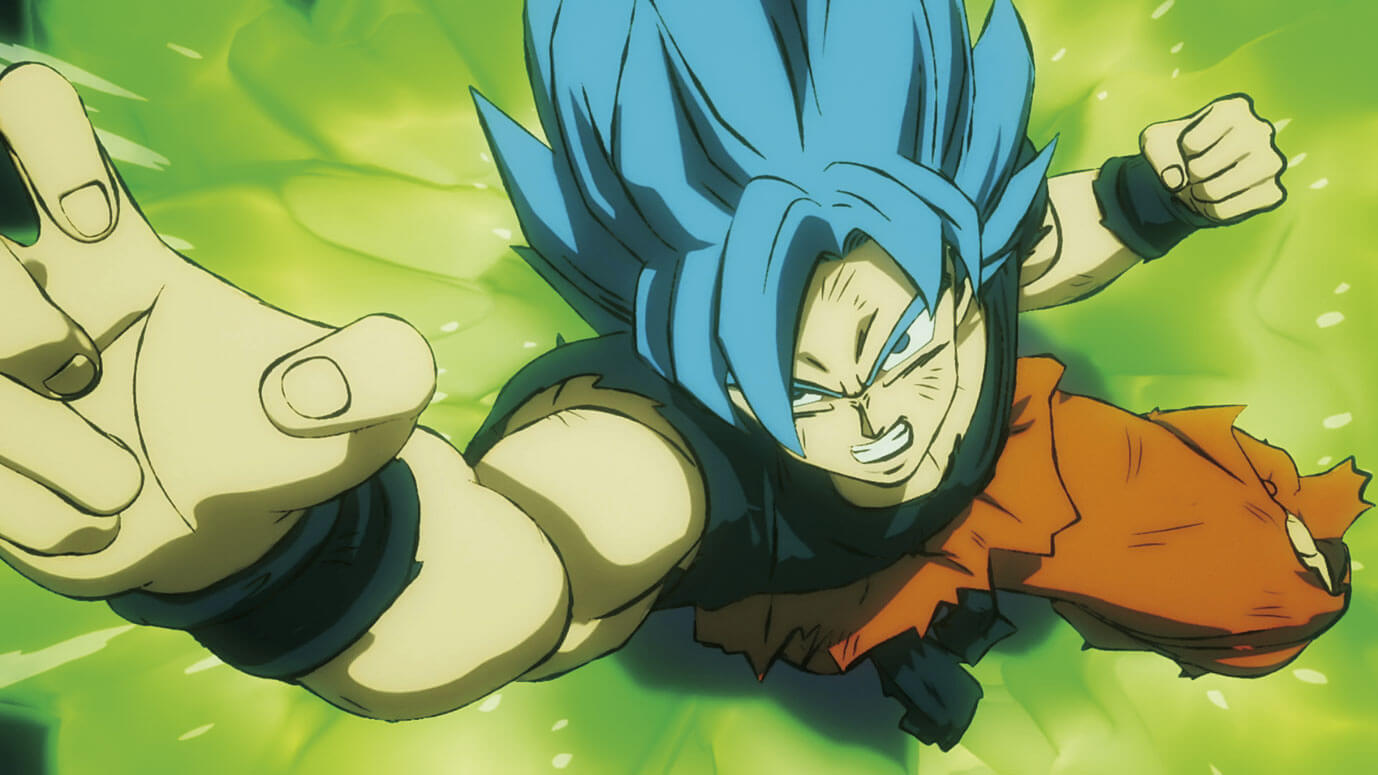 Dragon Ball Super Broly reseña anime goku blue
