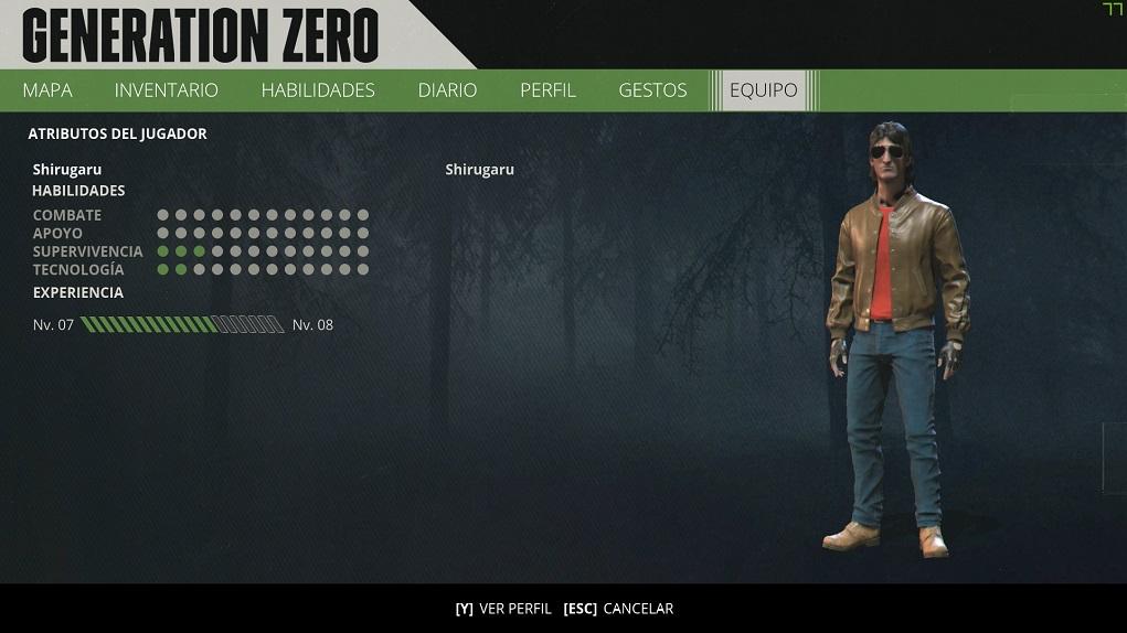 Generation Zero - Rol de mesa, habilidades e inventario 3