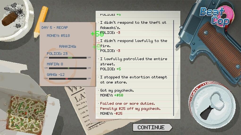 Análisis de 'Beat Cop', de Pixel Crow (1)