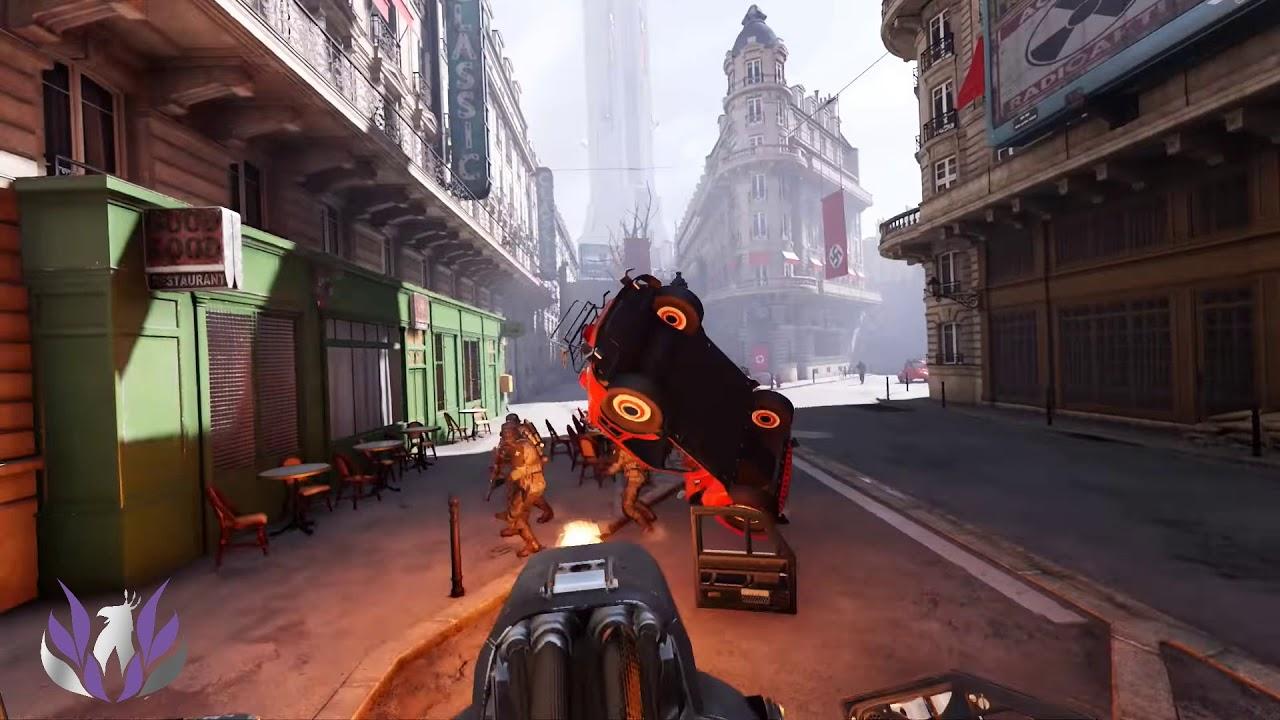 En la imagen, nuestro Hacker, controlando uno de los temibles Panzerhuds contra los Nazis.