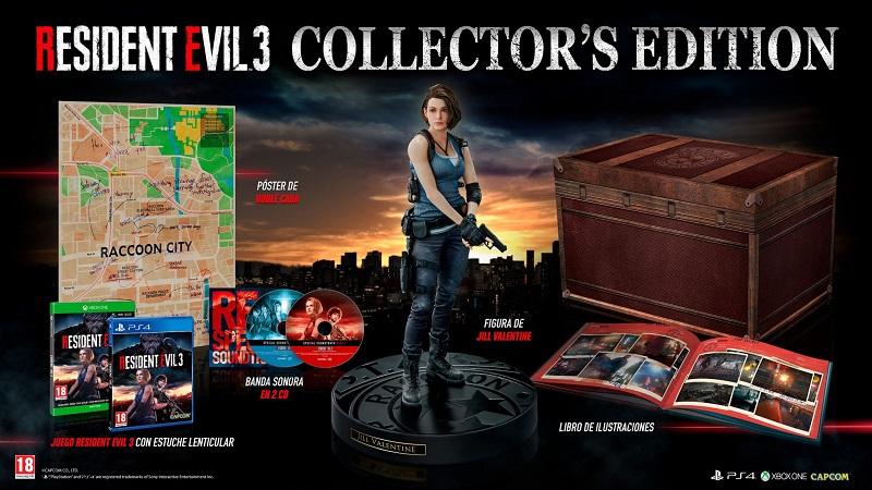 Contenido de la edición coleccionista de Resident Evil 3