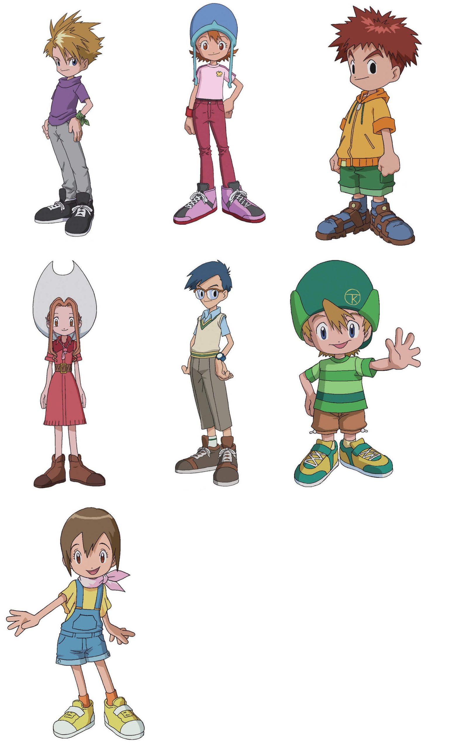 Digimon Adventure diseño de personajes