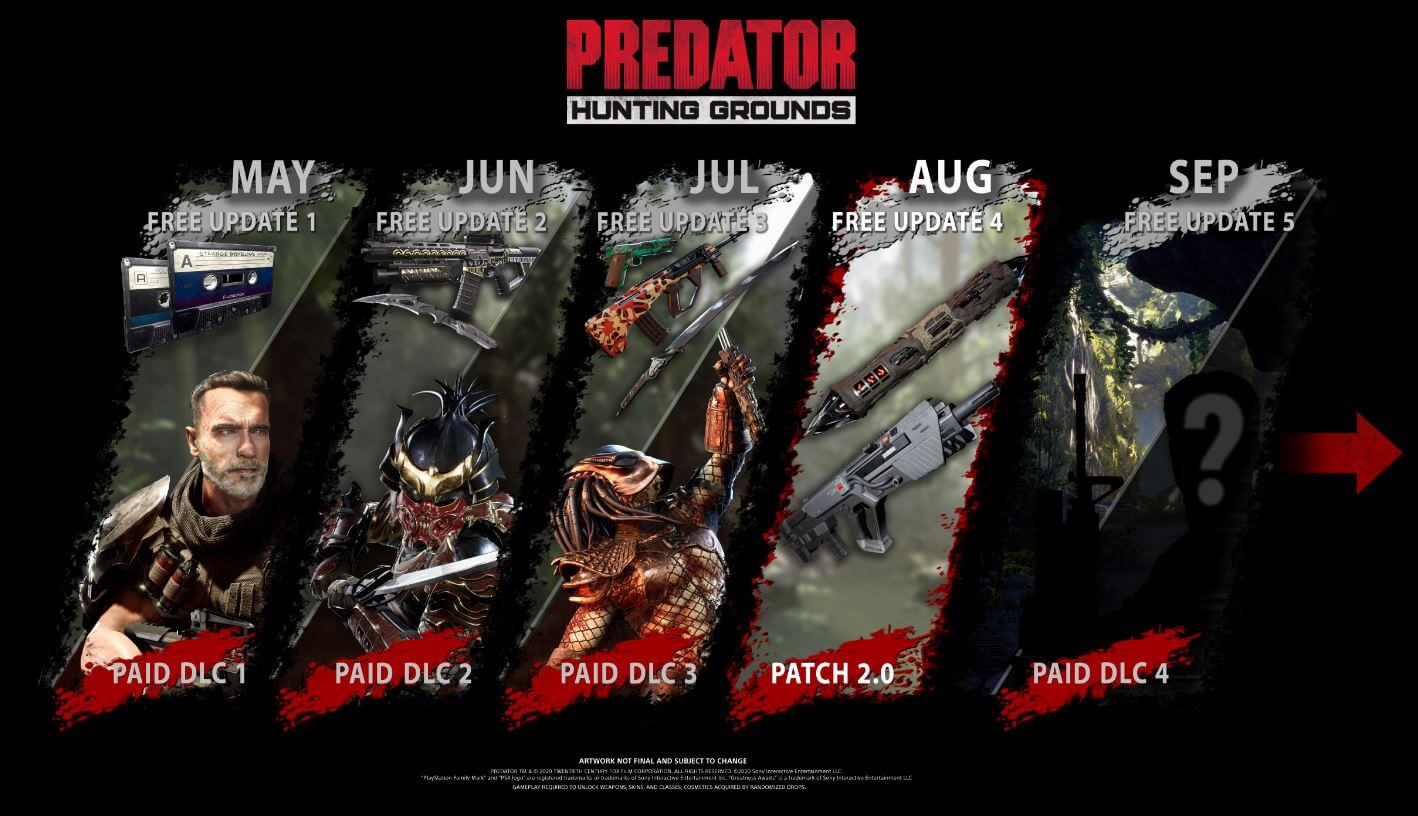 """""""Predator: Hunting Grounds"""" recibirá un nuevo parche"""