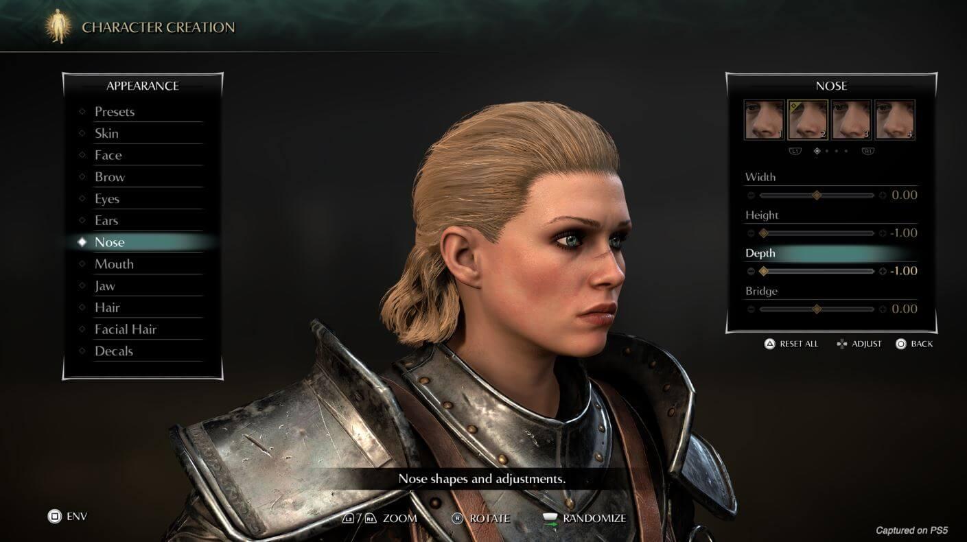 Demon's Souls: creador de personajes y modo foto