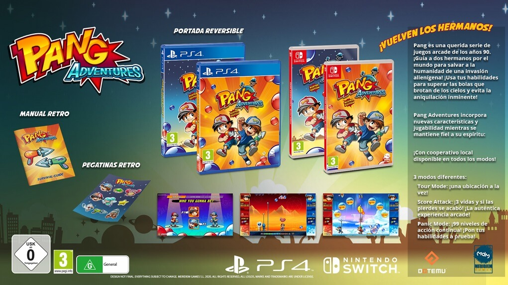 Pang Adventures Buster Edition ya disponible para  Switch