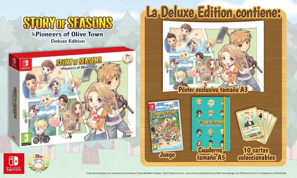 Deluxe Edition Story of Seasons: Pioneers of Olive Town