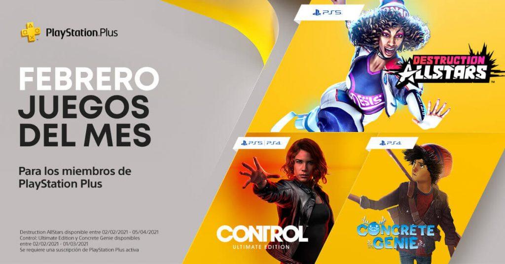 febrero 2021 PlayStation Plus