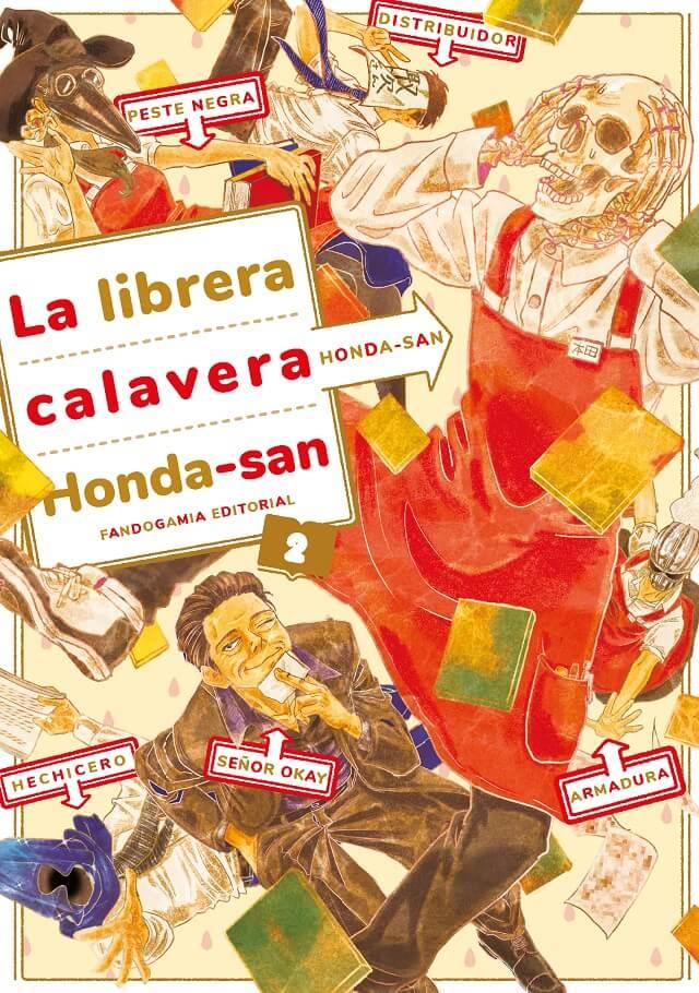 Reseña manga La librera calavera Honda-San n.º 2