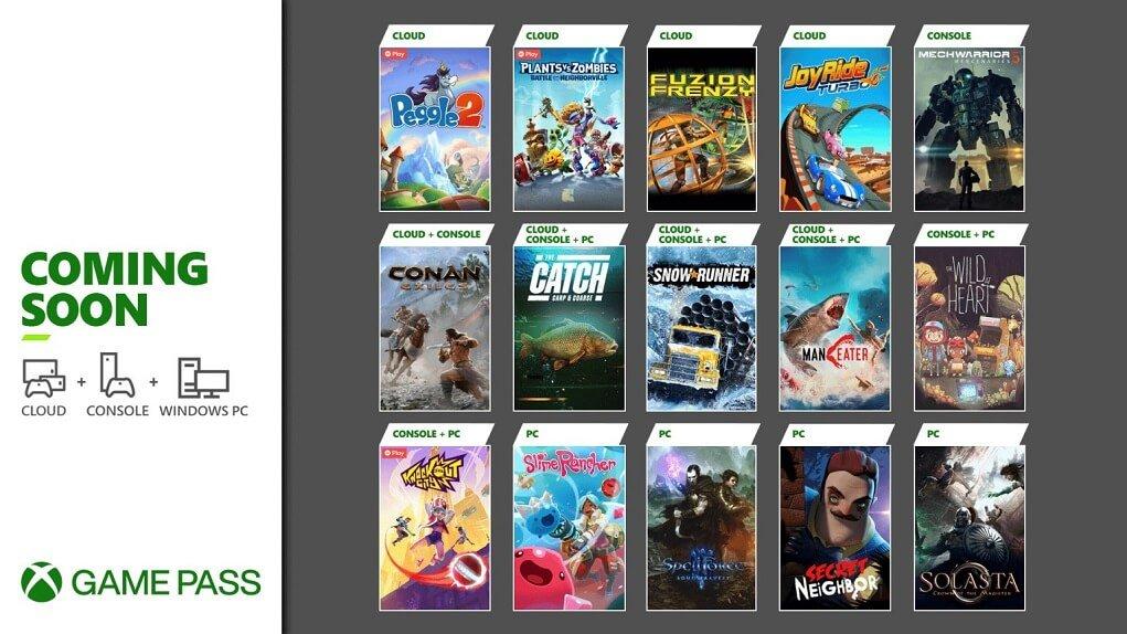 Nueva remesa de juegos para Xbox Game Pass