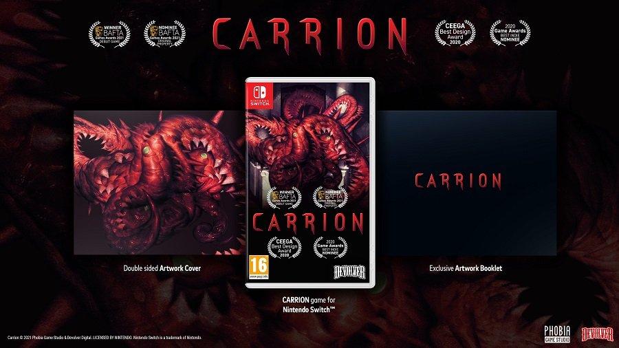 El videojuego de terrorCARRION tendrá edición física en Nintendo Switch