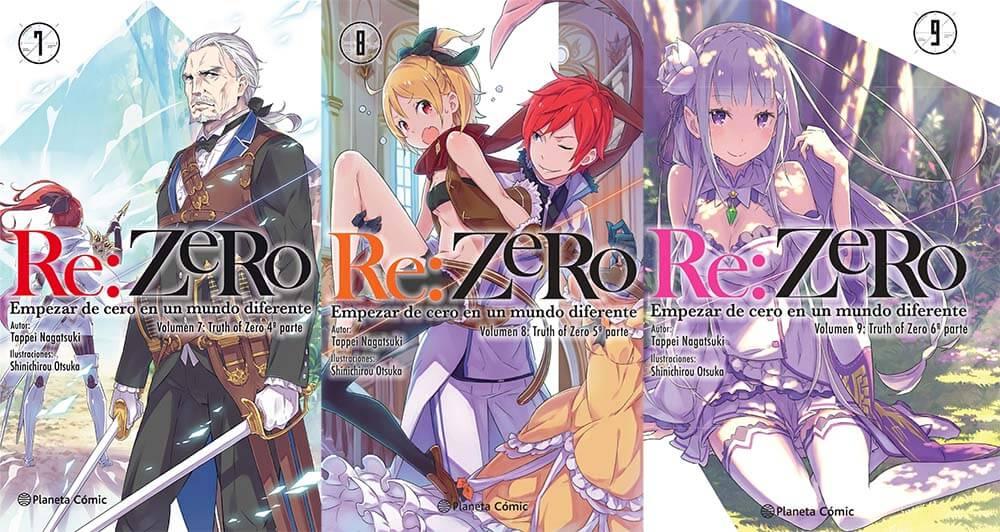 Reseña novela ligera Re:Zero arco 3, volúmenes 7, 8 y 9